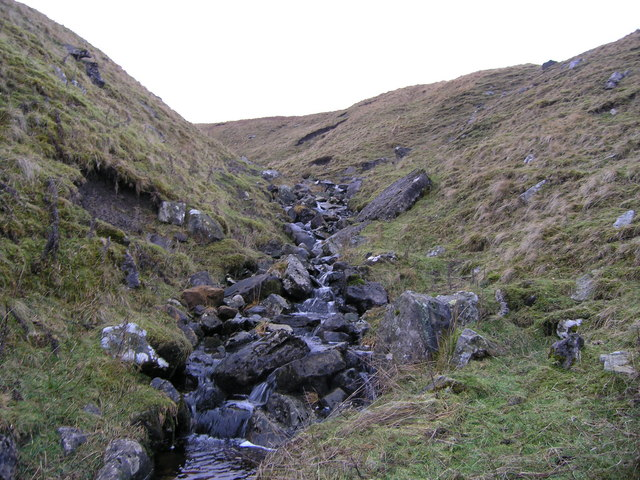 View up the gill that originates from Thorn Keld spring