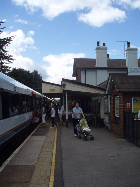Up platform at Liphook Station