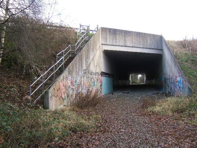 M53 bridge on the disused railway