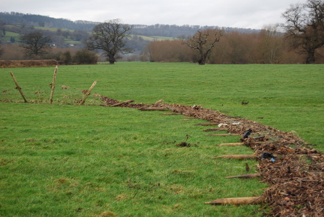 Flood damaged fencing