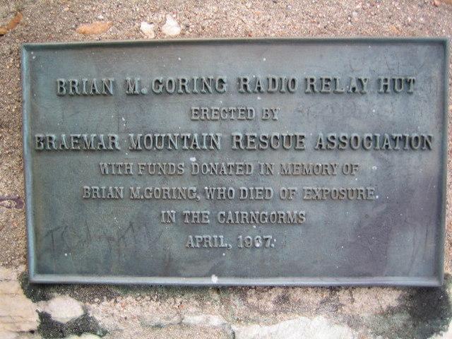 Plaque on the Morrone radio relay hut