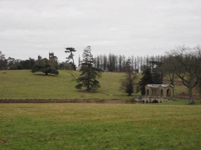 Eastern side of Stowe Gardens