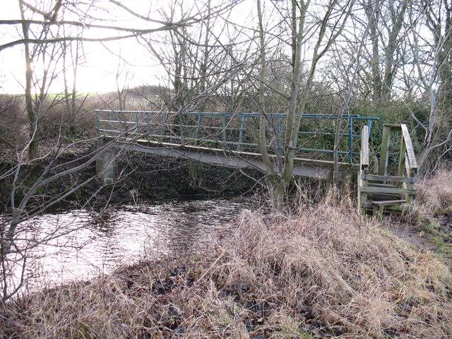 Footbridge at Clotherholme