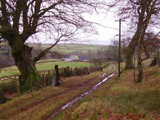 Upland farm and road
