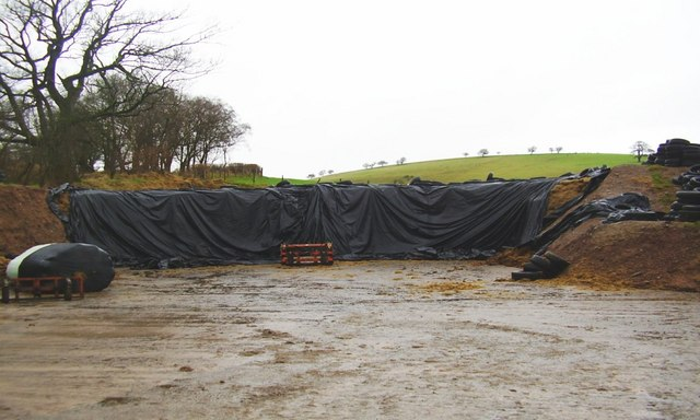 Silage pit for a big farm