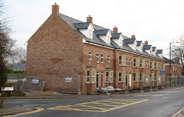 New housing development, Palace Road