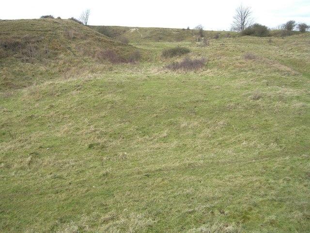 Pyecombe, Wolstonbury hill chalk pit
