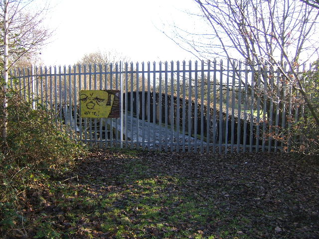Fence across the disused railway