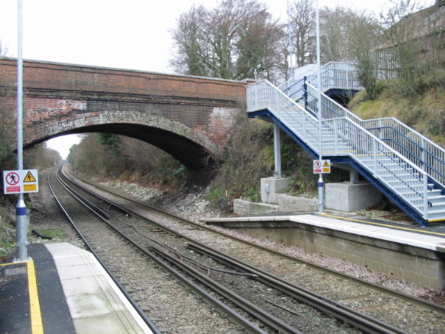 Road bridge at Snowdown station