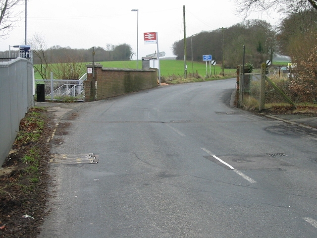 View along Holt Street where it crosses the railway line