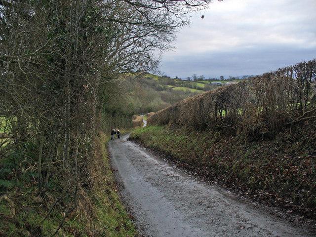 Lane south of Llachdolt Farm