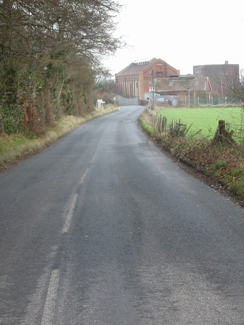 View along Holt Road to what remains of Snowdown colliery
