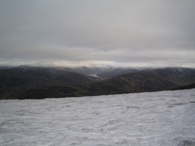 Looking south-east from the summit of Morrone