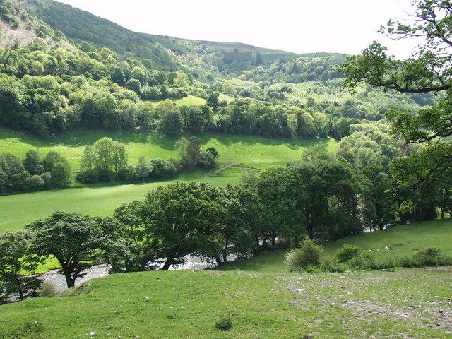 Afon Dyfrdwy from the Llangollen Canal
