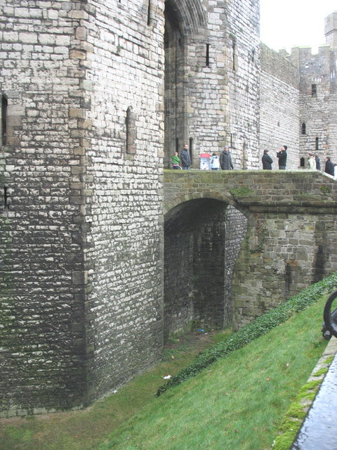 The entrance bridge to Caernarfon Castle