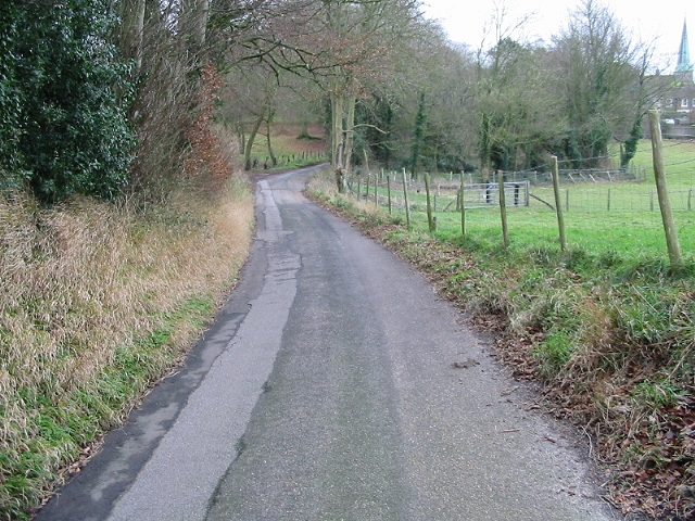 Looking S along Rectory Lane