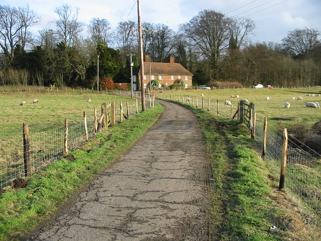 Looking E along footpath and track