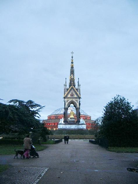 Rear view of the Albert Memorial