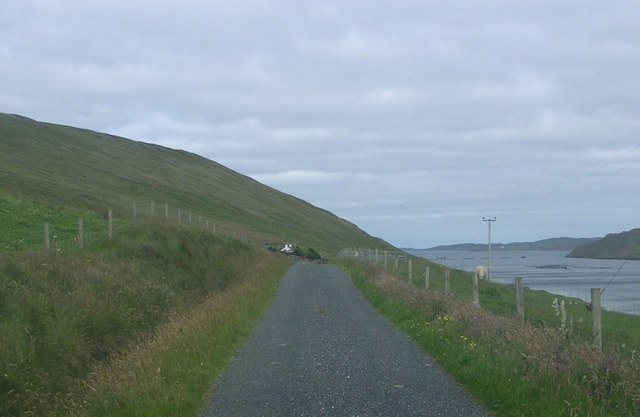 Road to Bayview and Uphouse, Collafirth, Delting.