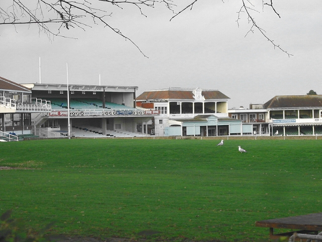 The stands at Kent County cricket ground