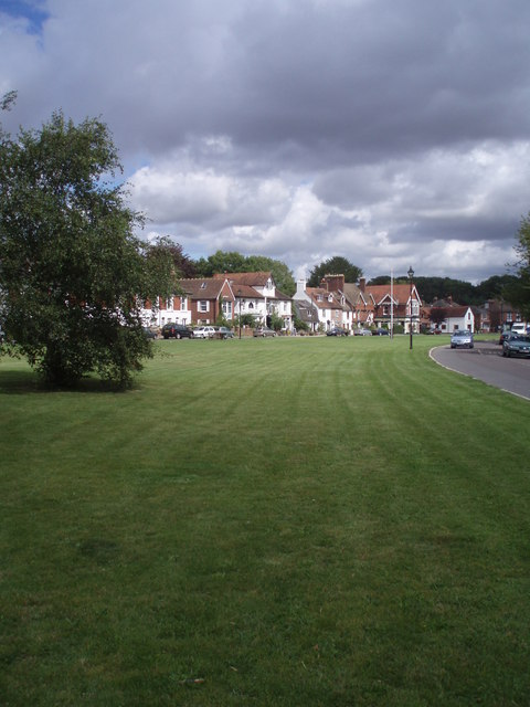 Looking eastwards across The Green