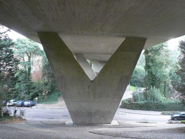 Bournemouth: under Braidley Road viaduct