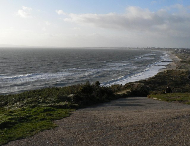 Hengistbury Head: choppy sea
