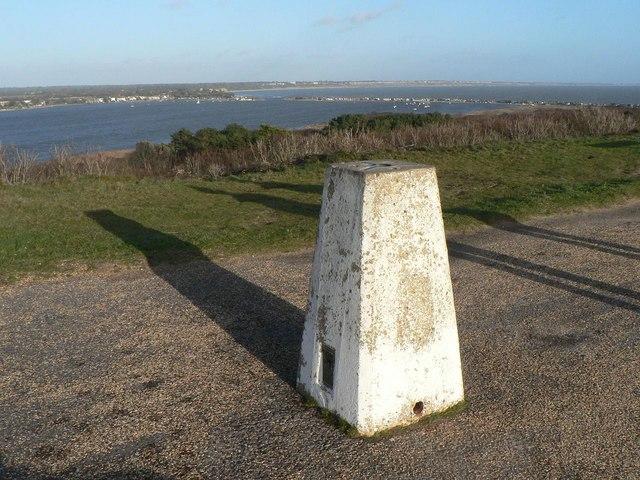 Hengistbury Head: Warren Hill trig point