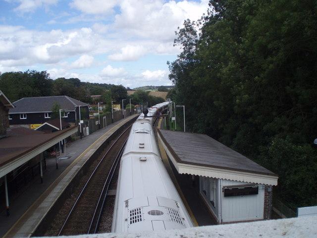 Looking northwards from footbridge