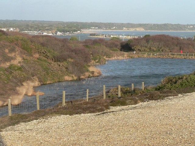Hengistbury Head: old quarry and view