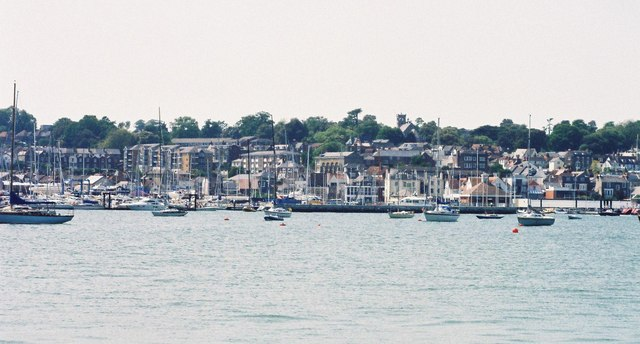 Cowes: approaching on the ferry