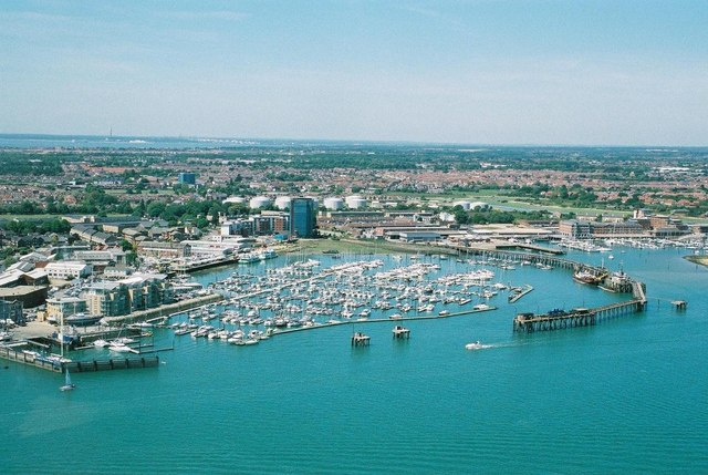 Gosport: northern suburbs from Spinnaker Tower