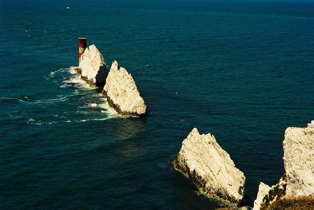 The Needles from above