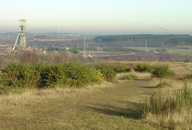 View looking north east from Clipstone colliery tip