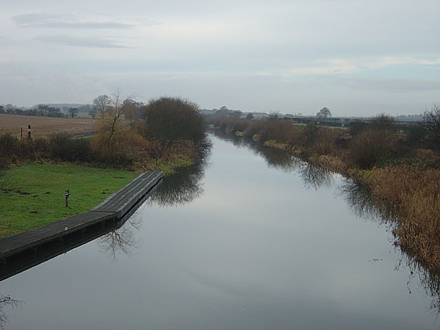 Selby Canal from Burn Bridge looking west