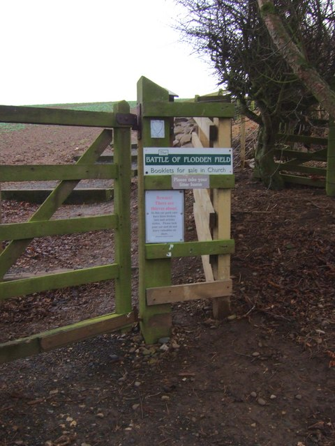 Access for steps to Flodden Field
