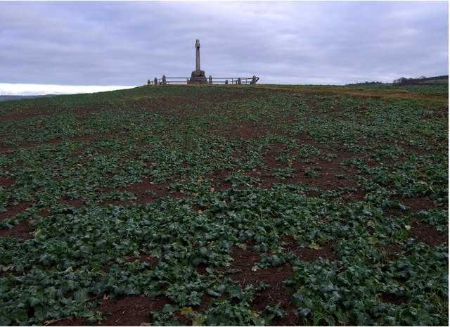 Flodden battle monument on Pipers Hill