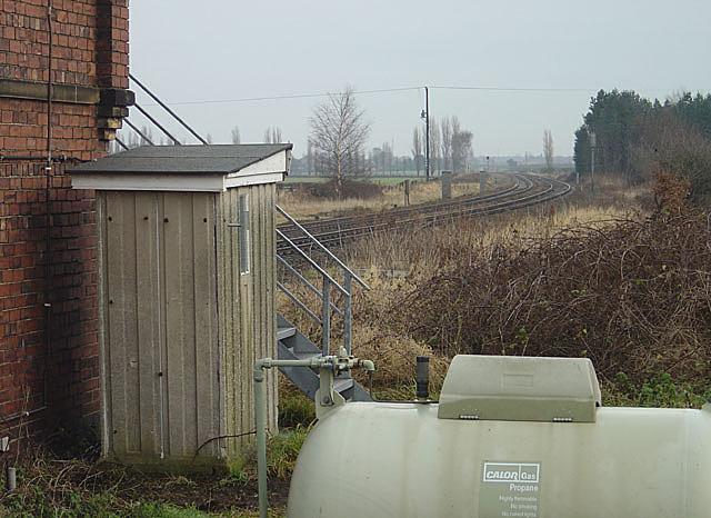 Railway line at Thorpe Gates
