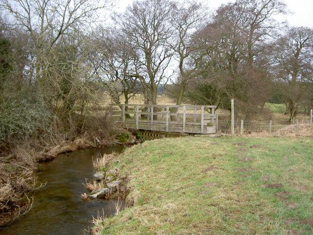 Footbridge over the River Alyn.
