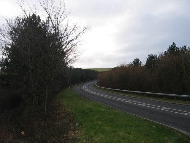 A487(T) rhwng Llanon ac Aberaeron / A487(T) between Llanon and Aberaeron
