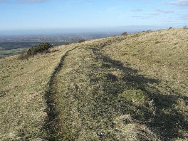 Pyecombe, Wolstonbury hillfort ditch