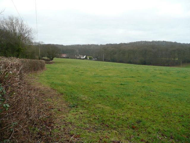 View north of Baregains Farm