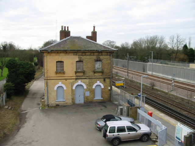 Westenhanger station house, now disused