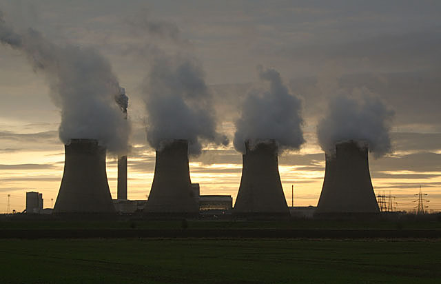 Eggborough Power Station at sunset