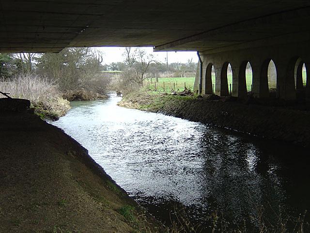 M1 viaduct over the Nene near Junction 16