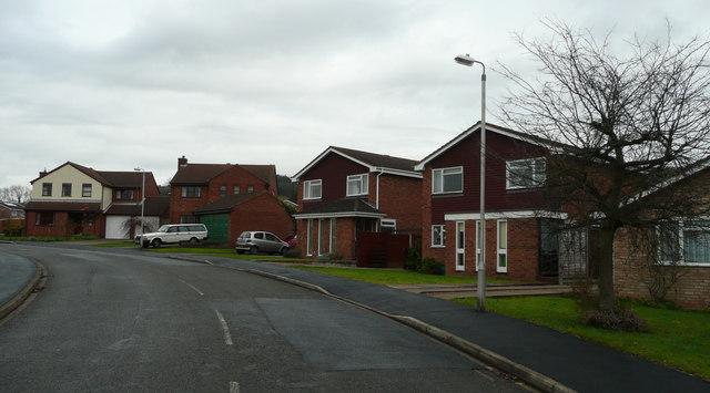 Estate housing in Ledbury