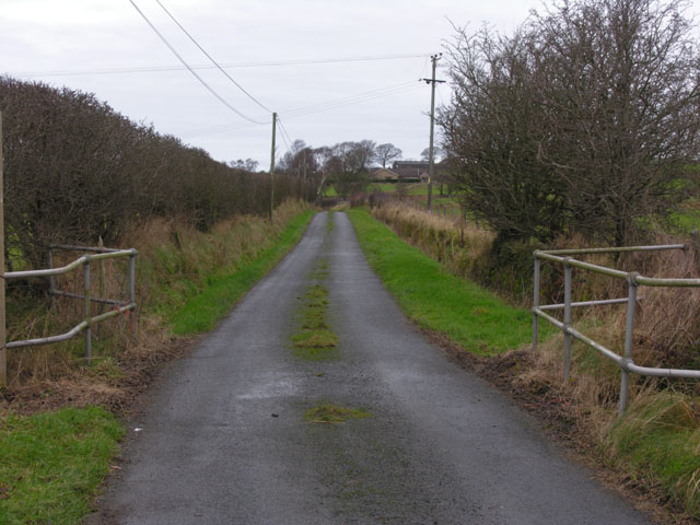 Lane to Brynhope and Dolyrychain farms