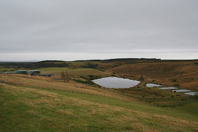 Waterworks east of Clunas reservoir
