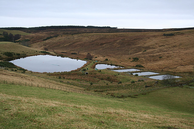 Waterworks near Clunas reservoir