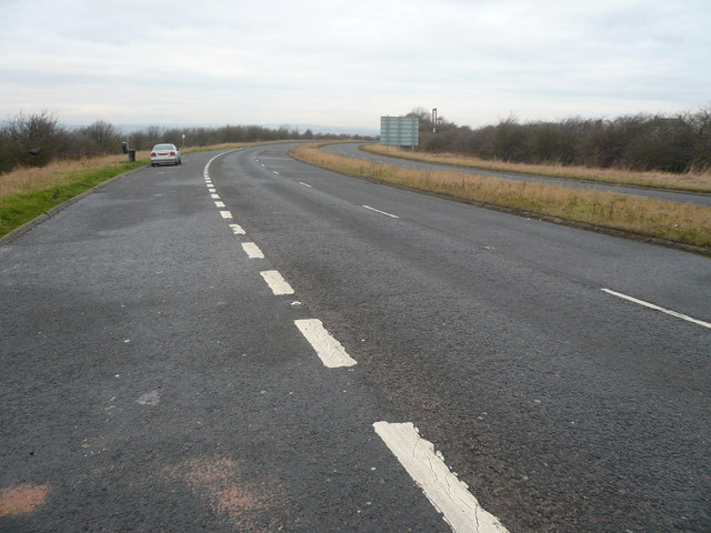 A6135 - View from Layby at Junction 30 of  M1